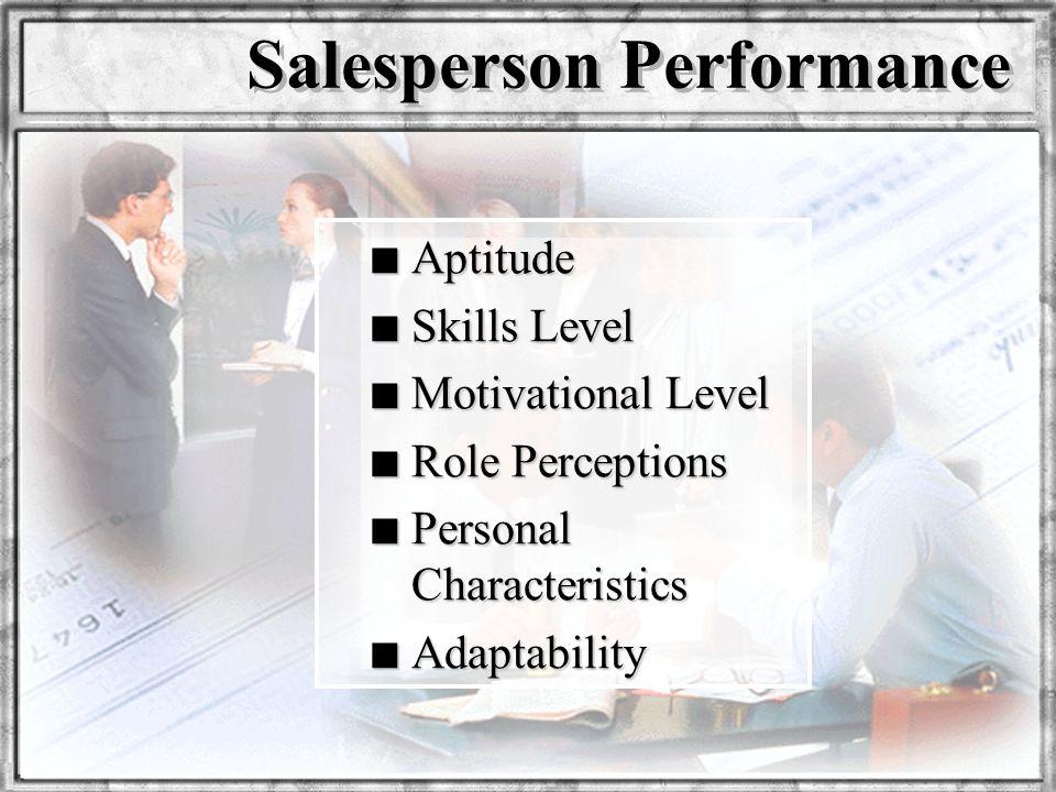 Salesperson Performance