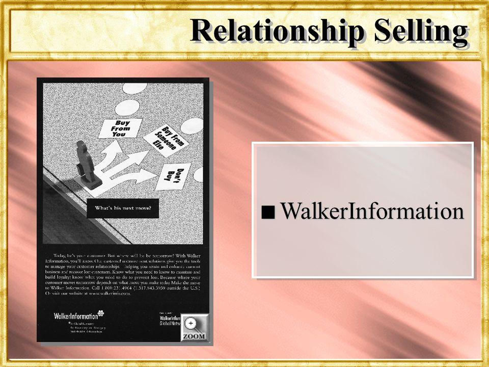 Relationship Selling WalkerInformation Dr. Rosenbloom