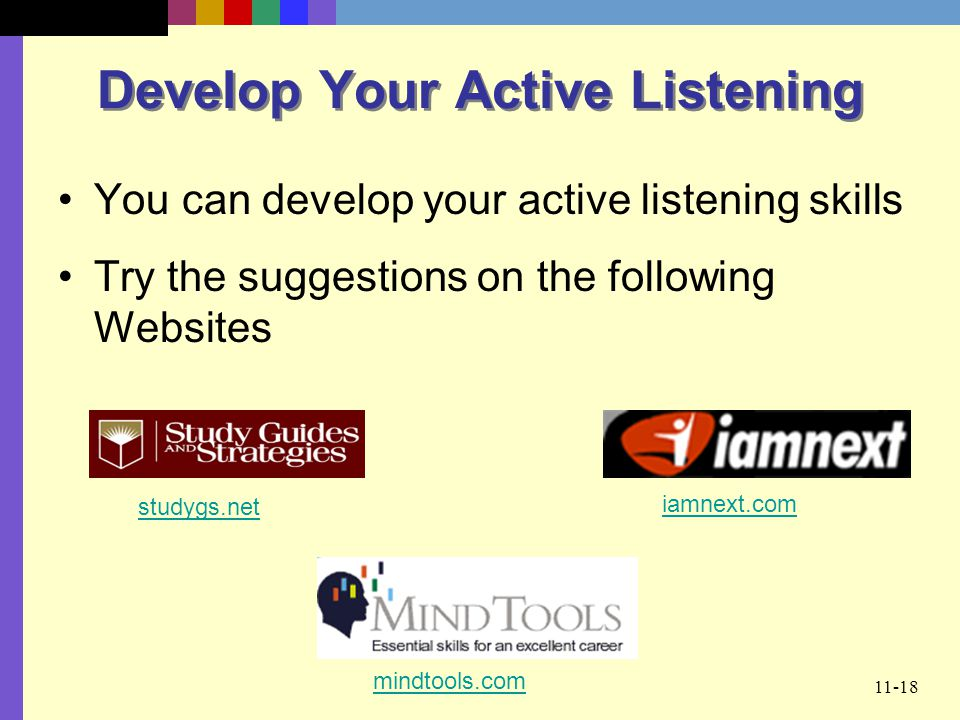 Develop Your Active Listening