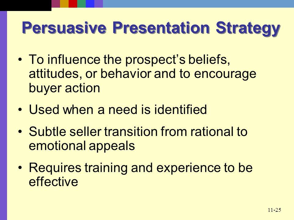 Persuasive Presentation Strategy