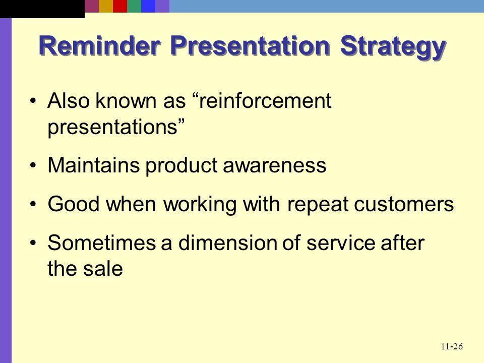 Reminder Presentation Strategy