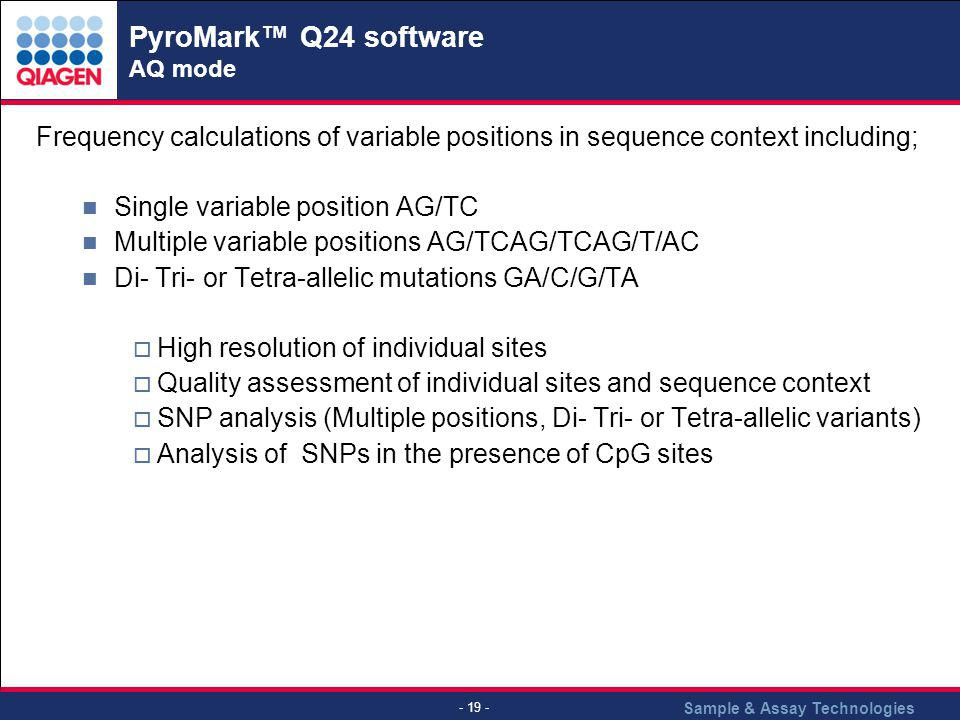 PyroMark™ Q24 software AQ mode