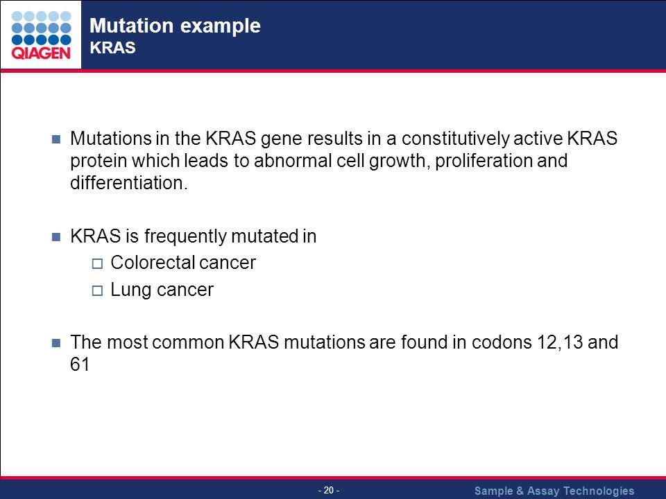 Mutation example KRAS