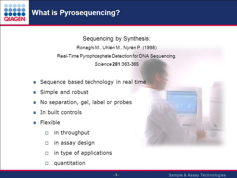 What is Pyrosequencing
