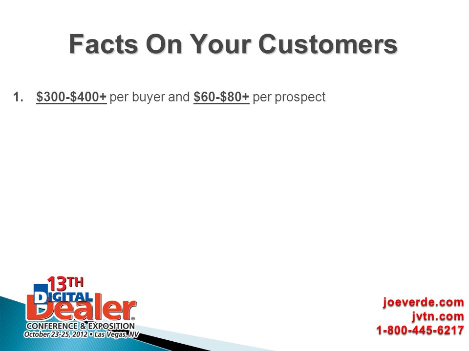 Facts On Your Customers
