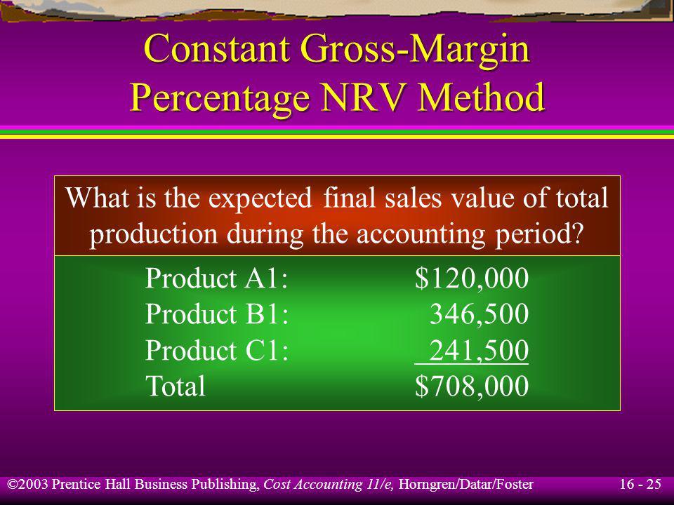 Constant Gross-Margin Percentage NRV Method