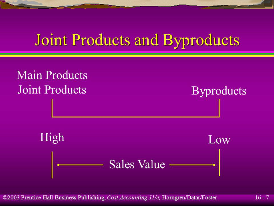 Joint Products and Byproducts