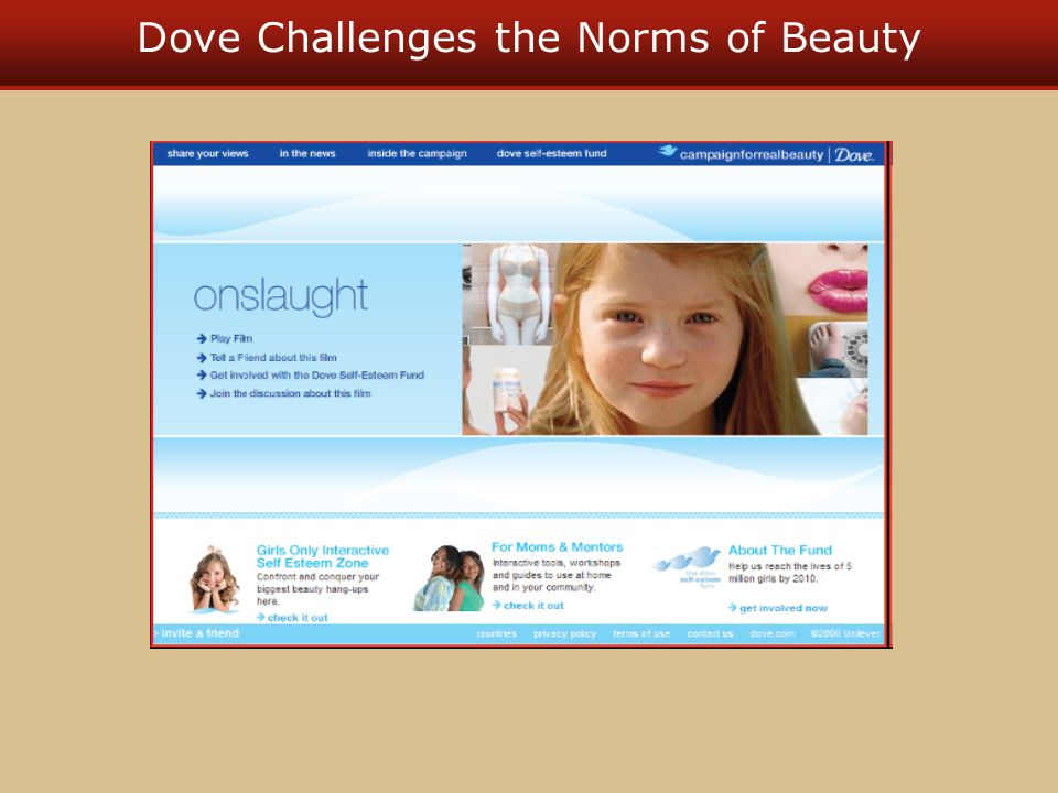 Dove Challenges the Norms of Beauty