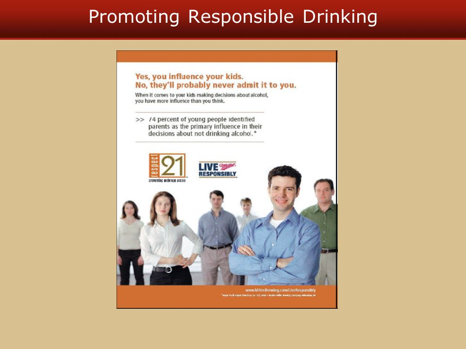 Promoting Responsible Drinking