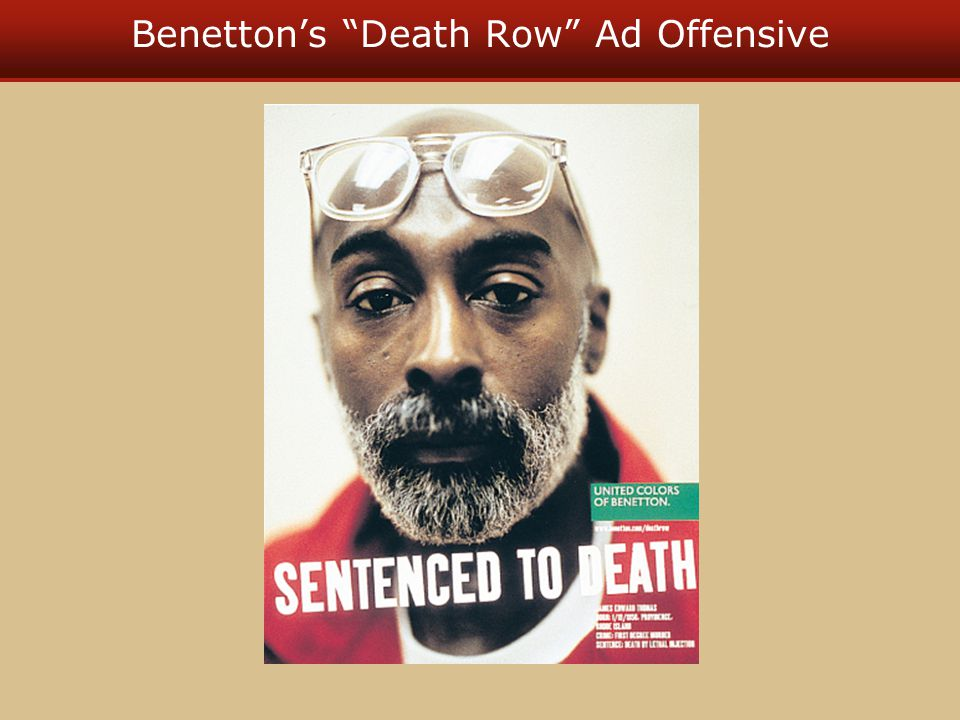 Benetton's Death Row Ad Offensive