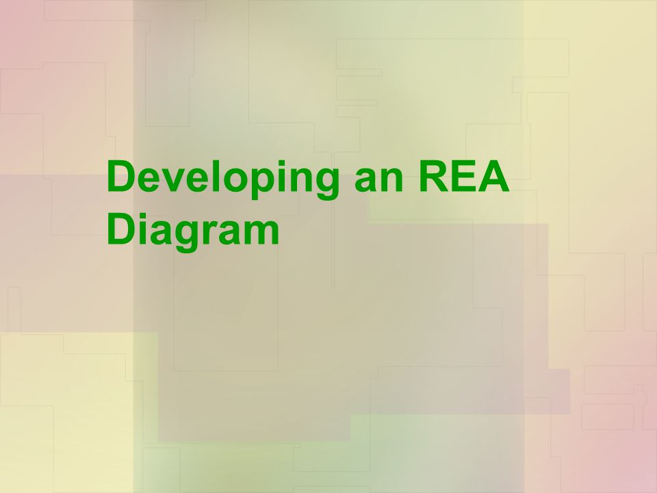 Chapter 5: Data Modeling and Database Design Developing an REA Diagram