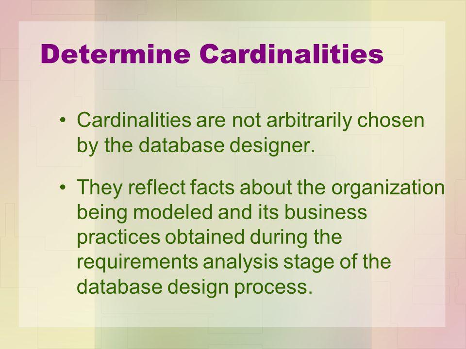 Determine Cardinalities