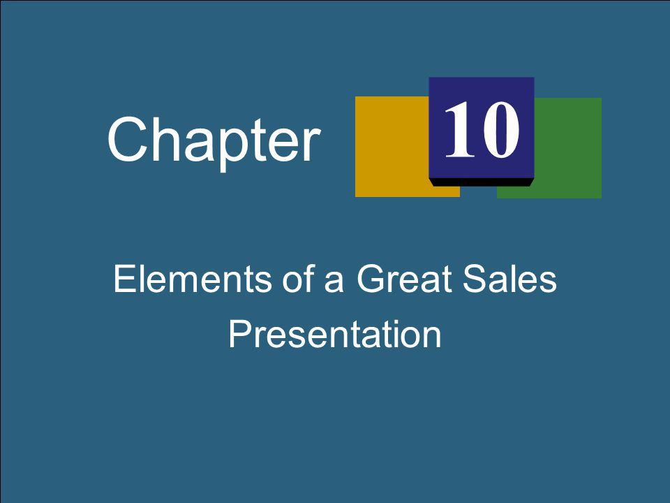 Elements of a Great Sales