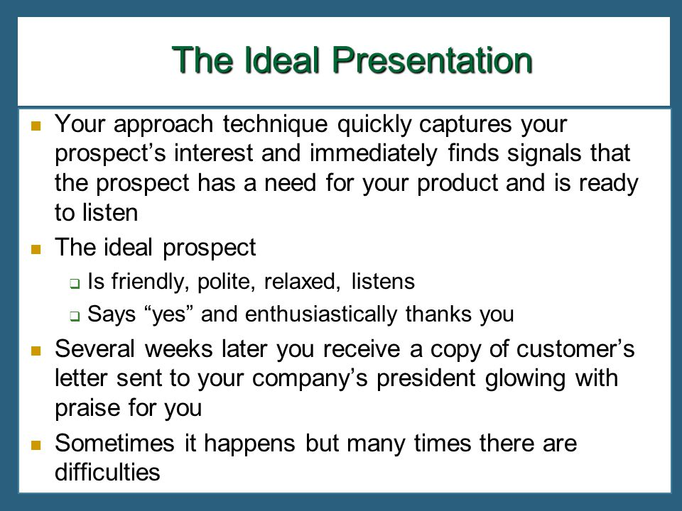 The Ideal Presentation