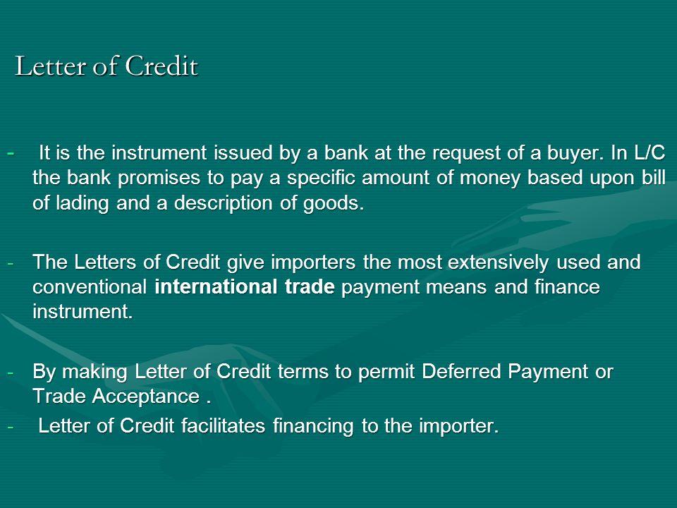 Letter of Credit