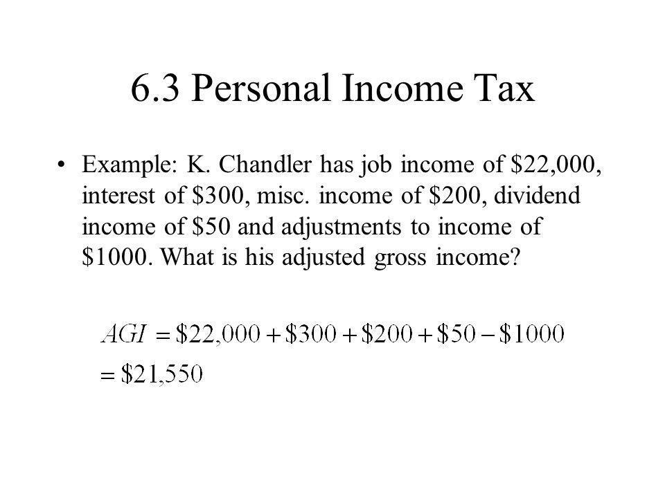 6.3 Personal Income Tax