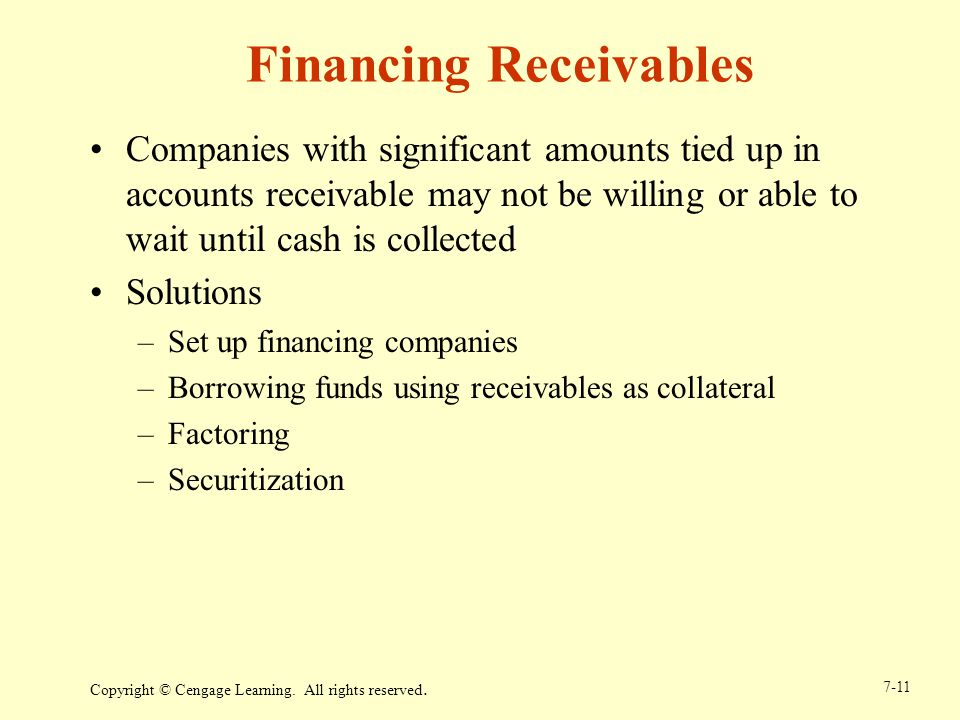 Financing Receivables