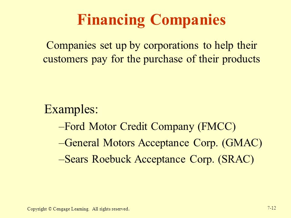Chapter 7 cash and receivables ppt download for Ford motor credit financing