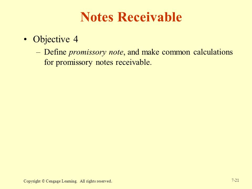 Notes Receivable Objective 4