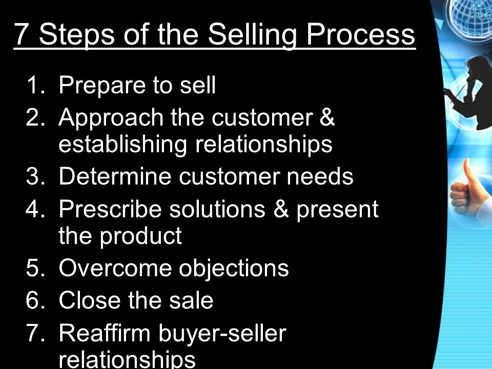 7 Steps of the Selling Process