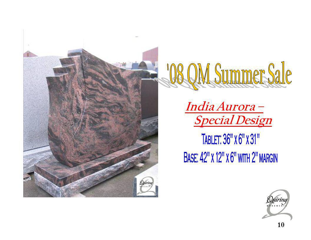 India Aurora 08 QM Summer Sale India Aurora – Special Design