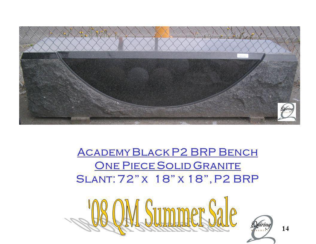 Academy Black P2 BRP Bench