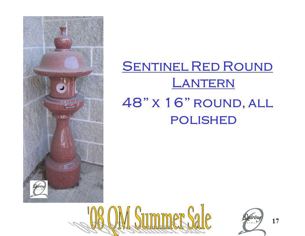 Sentinel Red Round Pagoda