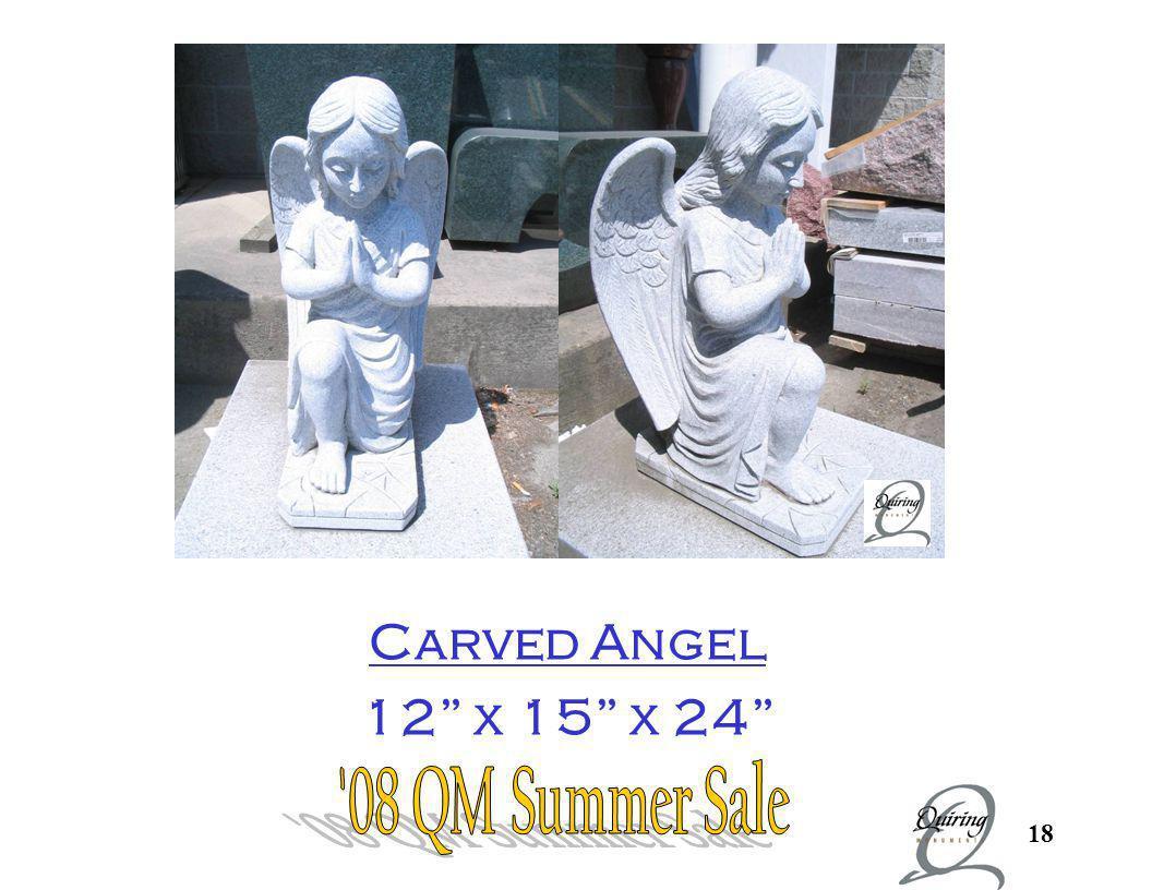 Carved angel in gray granite