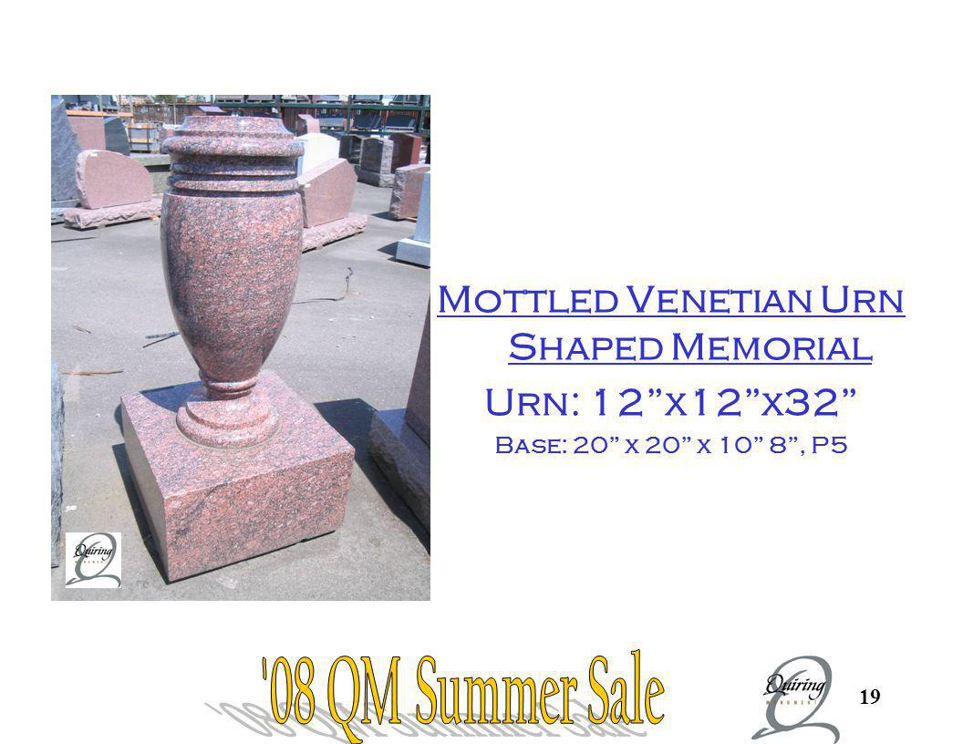 Mottled Venetian Urn Shaped Memorial