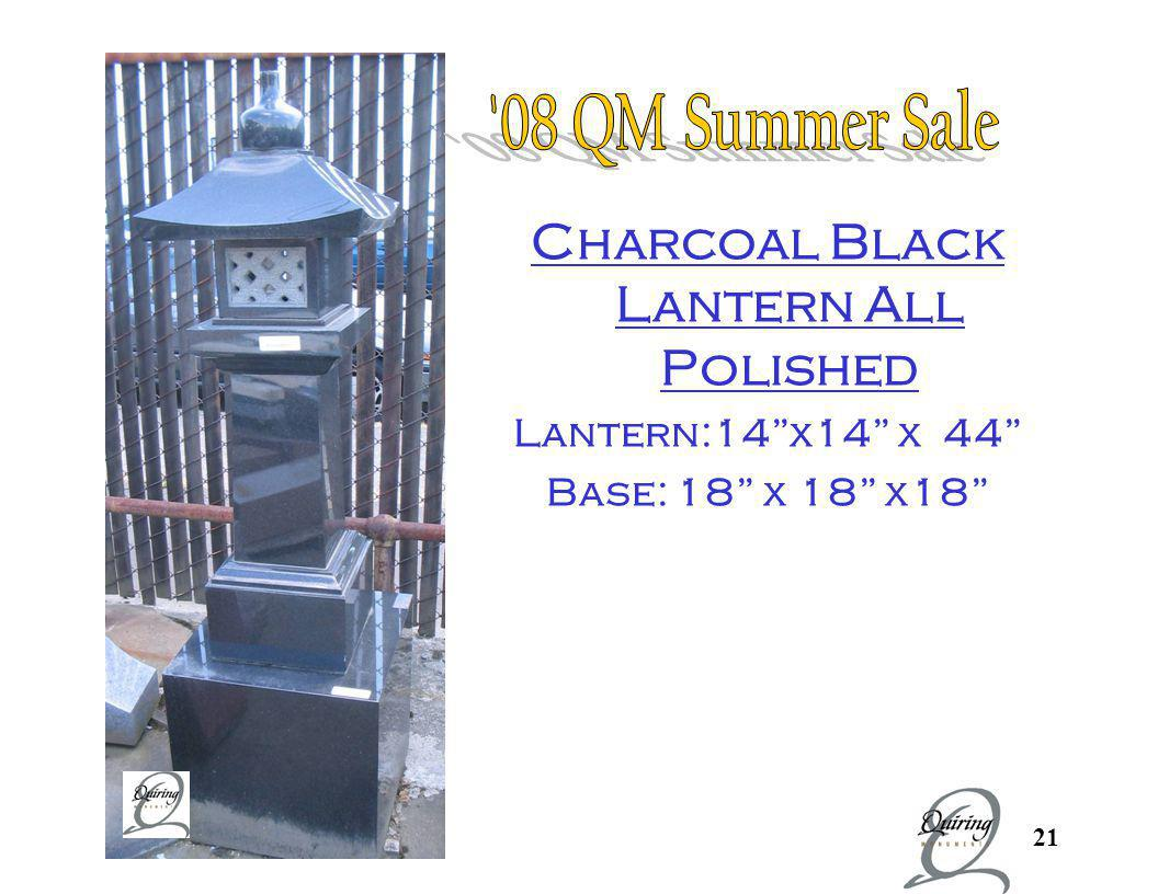 Charcoal Black Lantern All Polished