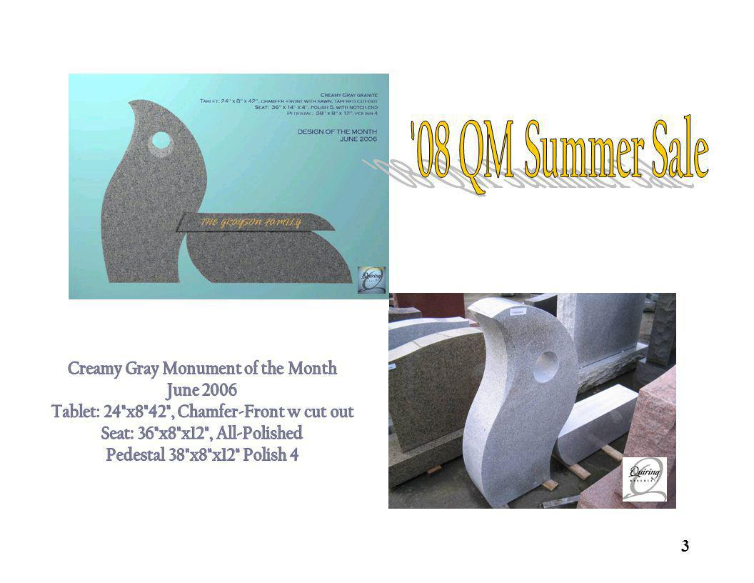 08 QM Summer Sale Creamy Gray Monument of the Month June 2006