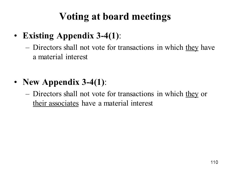 Voting at board meetings