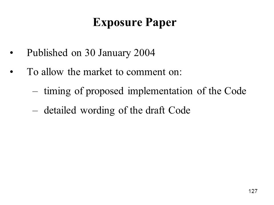 Exposure Paper Published on 30 January 2004