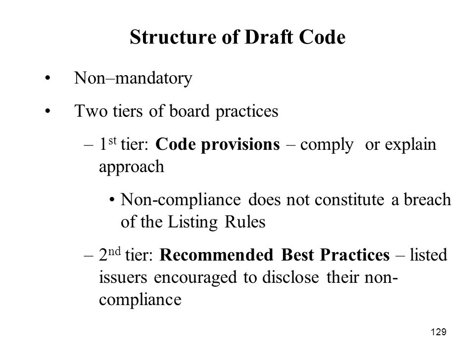 Structure of Draft Code