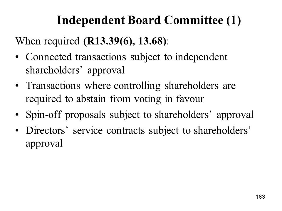Independent Board Committee (1)