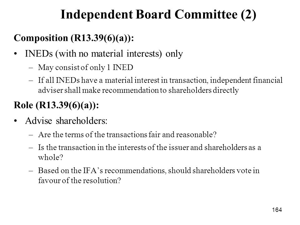 Independent Board Committee (2)