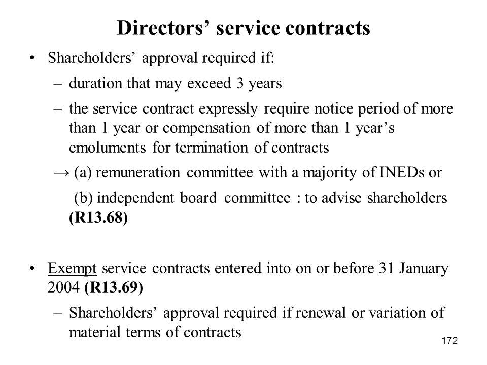 Directors' service contracts