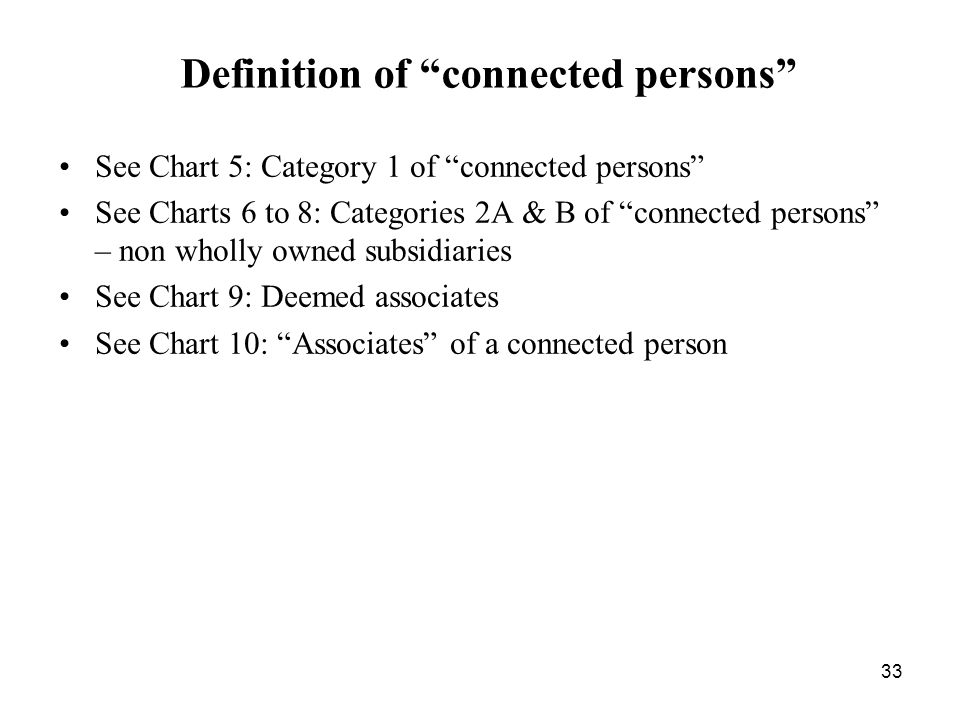 Definition of connected persons