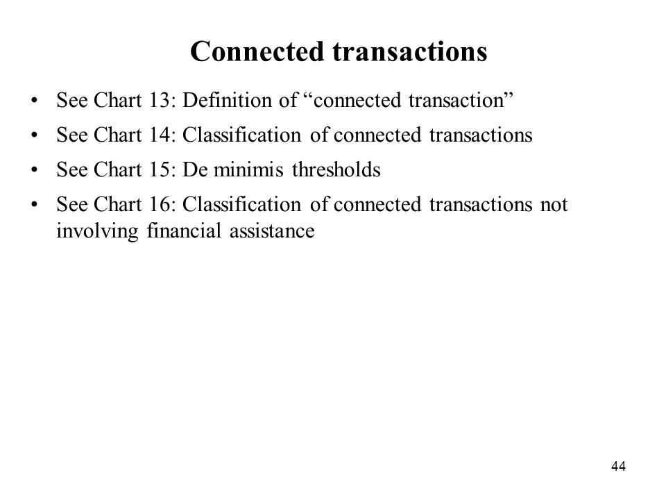 Connected transactions