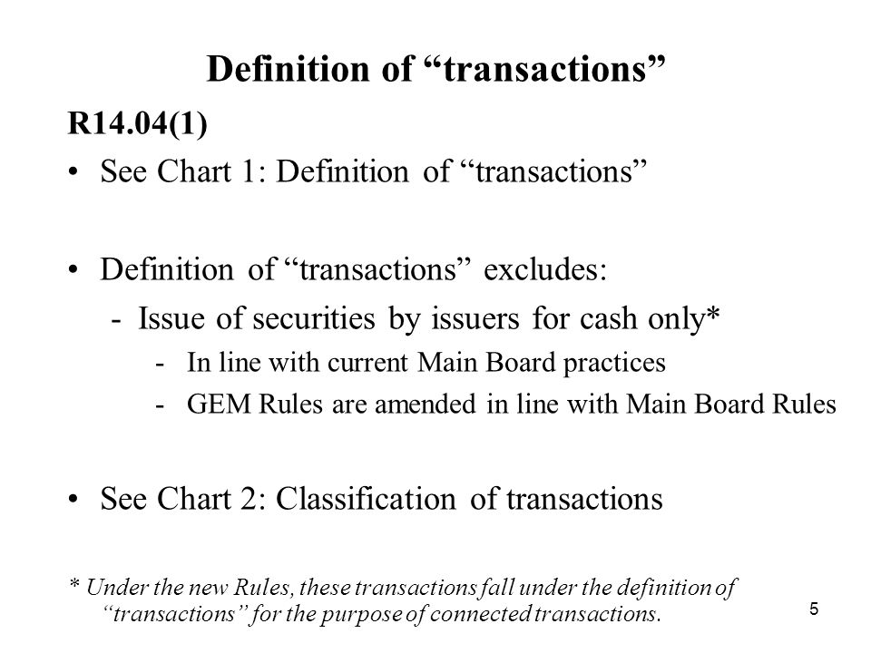 Definition of transactions