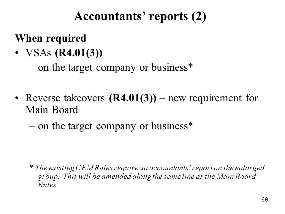 Accountants' reports (2)