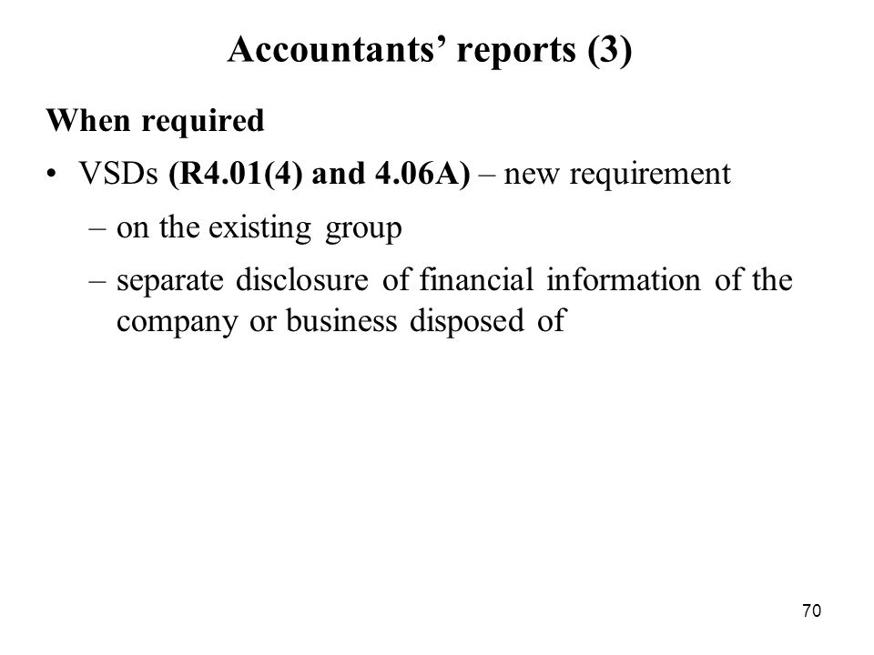 Accountants' reports (3)