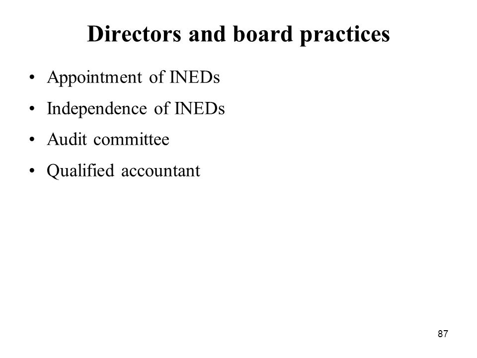 Directors and board practices