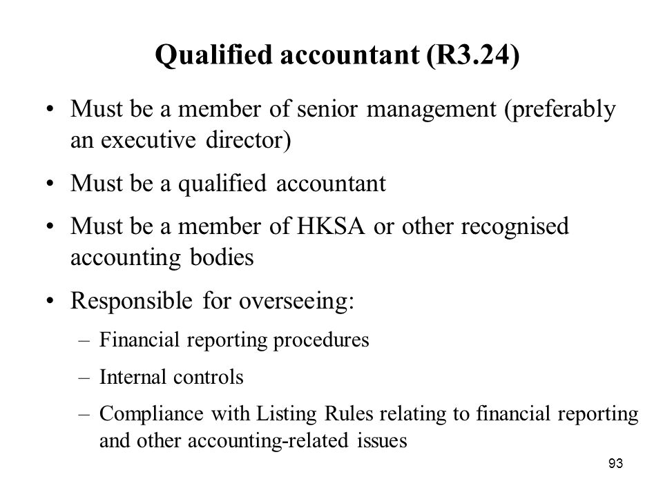 Qualified accountant (R3.24)