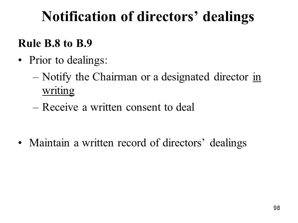Notification of directors' dealings