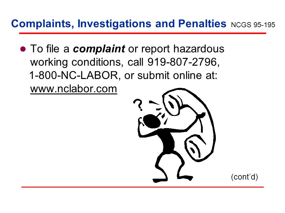 Complaints, Investigations and Penalties