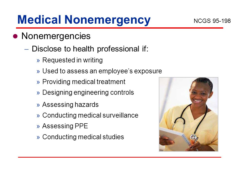 Medical Nonemergency Nonemergencies