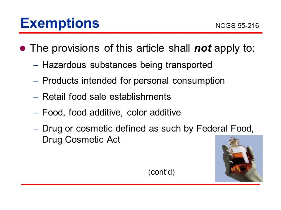 Exemptions The provisions of this article shall not apply to: