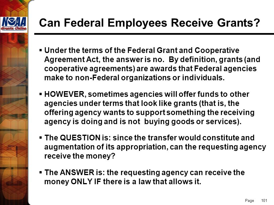 Can Federal Employees Receive Grants