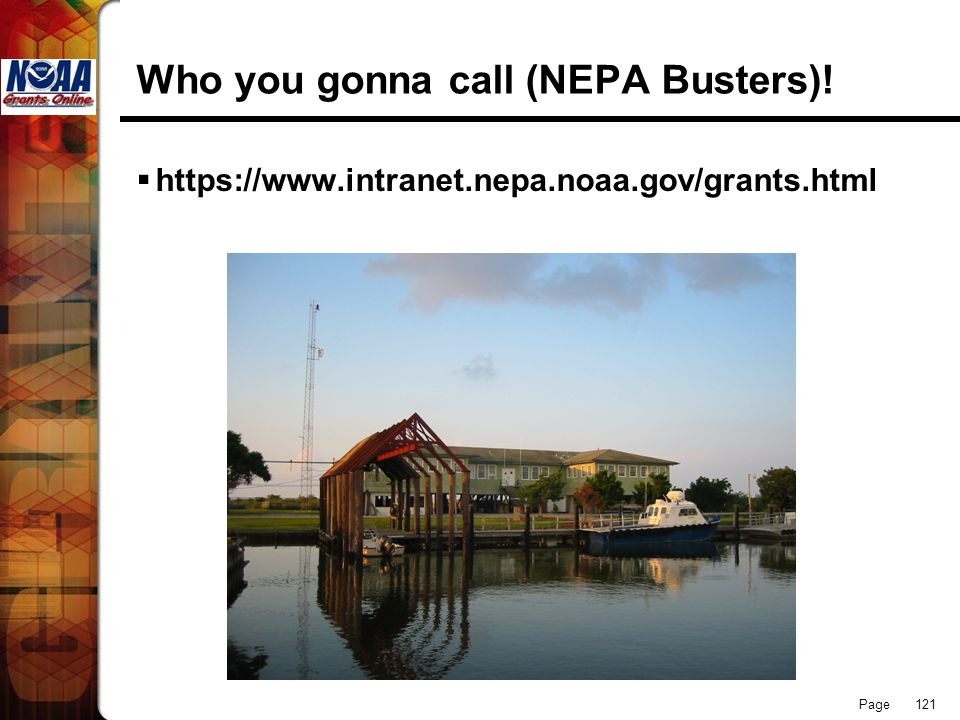 Who you gonna call (NEPA Busters)!